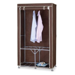 WARDROBE 90X46X160CM CANVAS BROWN